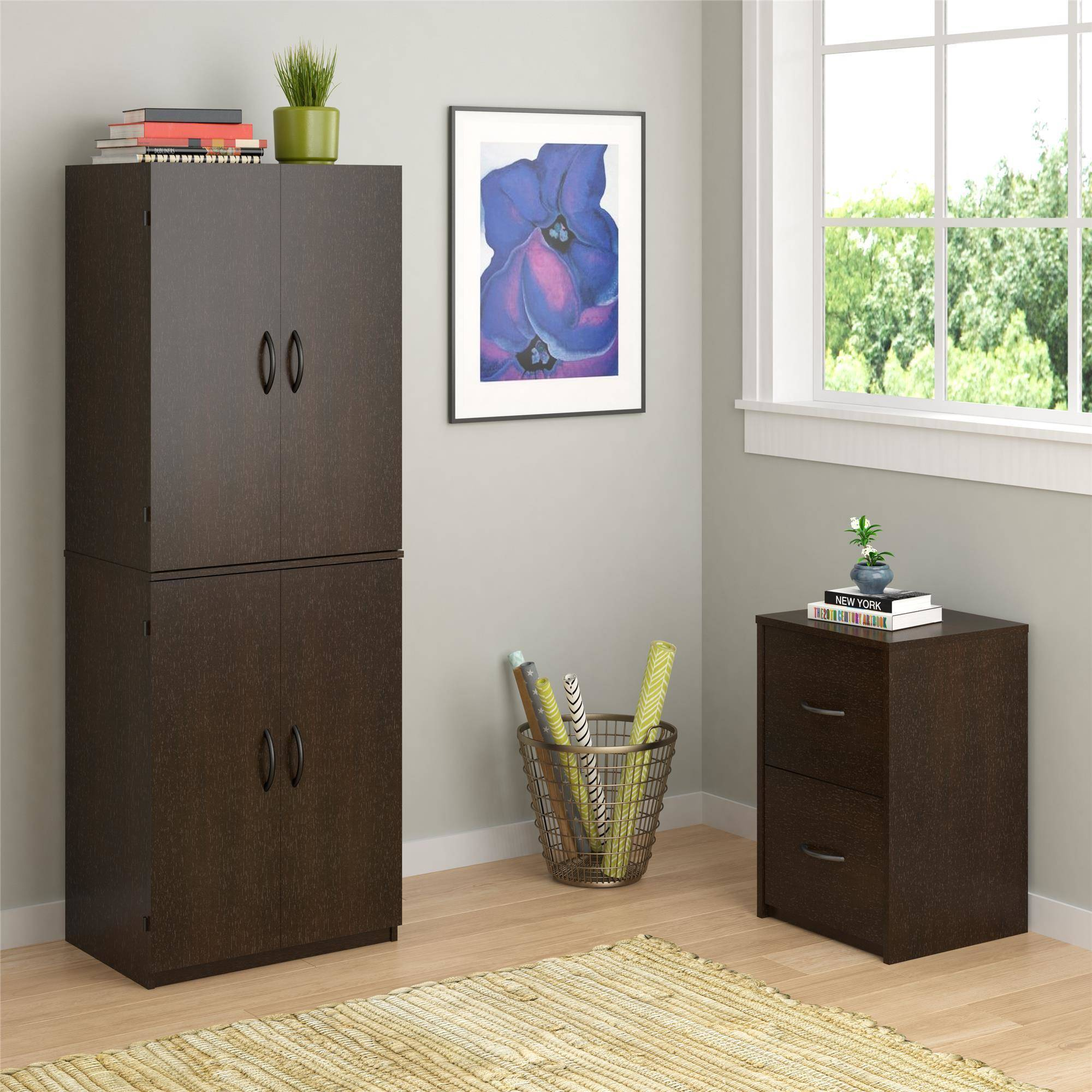 Surprising Mainstays Storage Cabinet Multiple Finishes Interior Design Ideas Ghosoteloinfo