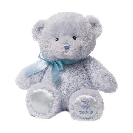 Teddy Baby Nursery (Baby My First Teddy Bear Stuffed Animal Plush, Blue, 10