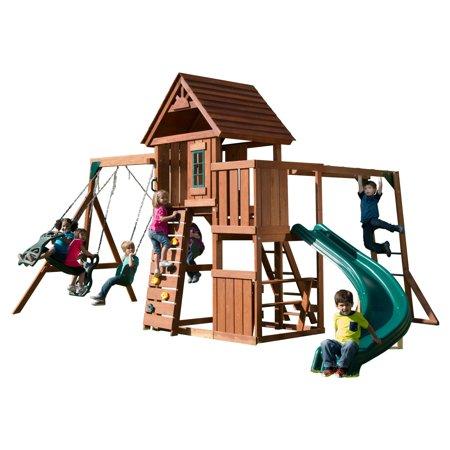 Swing N Slide Cedar Brook Wooden Play Set