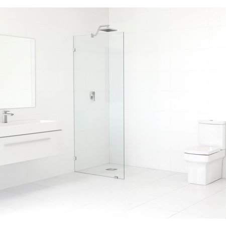 Glass Warehouse  78-inch x 32-inch Frameless Shower Single Fixed (Glass Fixed Panel)