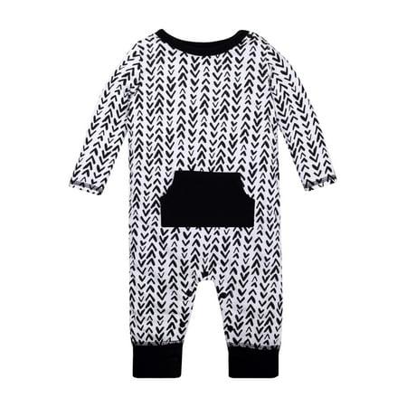 0d18e51c062a Long Sleeve One Piece Romper (Baby Boys) - Walmart.com