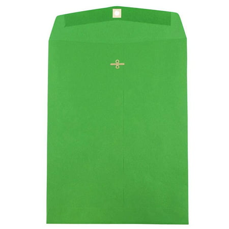 Discount Christmas Catalogs (JAM Paper 10 x 13 Open End Catalog Envelope with Clasp Closure, Brite Hue Christmas Green,)