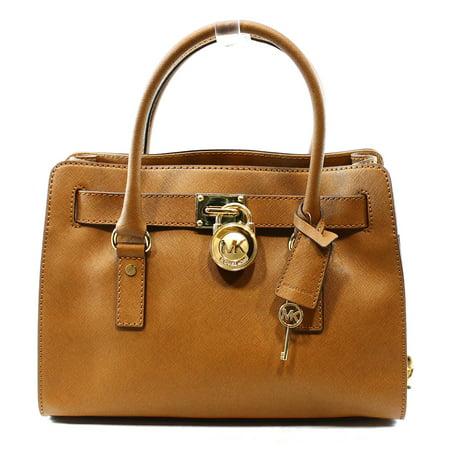78600d7c8 MICHAEL Michael Kors - Michael Kors NEW Brown Luggage Saffiano Hamilton  Satchel Bag Purse $298-#0044 - Walmart.com