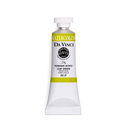 Da Vinci Paints Professional Watercolor, 15ml Tube, Leaf Green