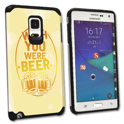 MightySkins Protective Bumper Case Cover for Samsung Galaxy Note Edge hybrid tpu rubber plastic Wish You Were Beer