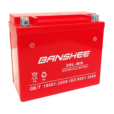 Banshee 20L-BS-Banshee-013 12V 18Ah New Replacement Motorcycle Battery for Buell X1 Lighting - 4 Years Warranty