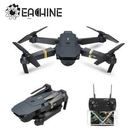 Eachine E58 6 Axis 2.4G 4CH WIFI FPV RTF RC Drone Quadcopter with 0.3MP/2MP HD Camera Foldable Wide Angle Camera High Hold Mode RC Toys Gifts Kid Adult ()