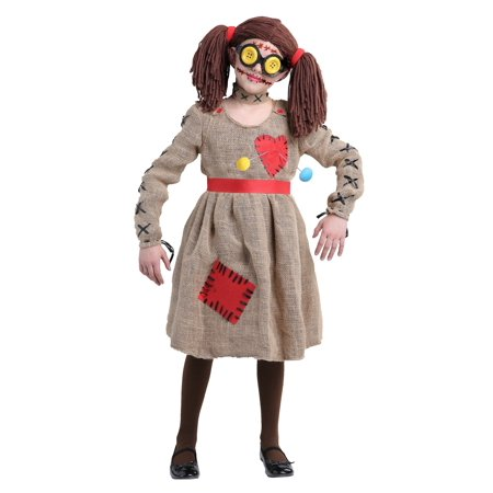 Burlap Voodoo Doll Girls Costume - Plus Size Voodoo Doll Costume