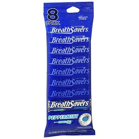 Breath Savers Sugar Free Mints Peppermint0.75 oz. x 8 packs (pack of 12)