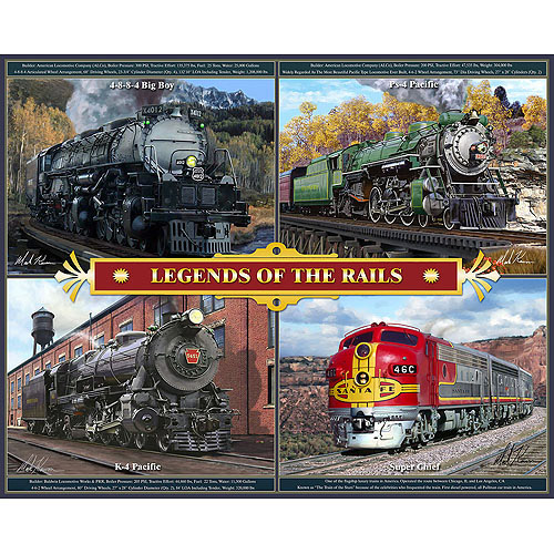 White Mountain Puzzles Legends of the Rails Puzzle, 1000 Pieces