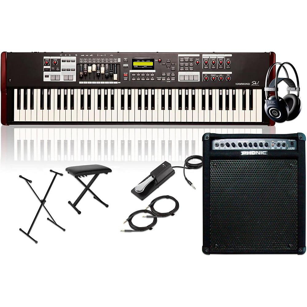 Hammond SK1-73 73-Key Pro Digital Keyboard Organ with Keyboard Amp, Stand, Headphones,... by Hammond
