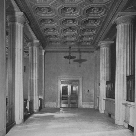 Smaller public space opposite the entrance - National City Bank, New York, 1922 Print Wall Art ()