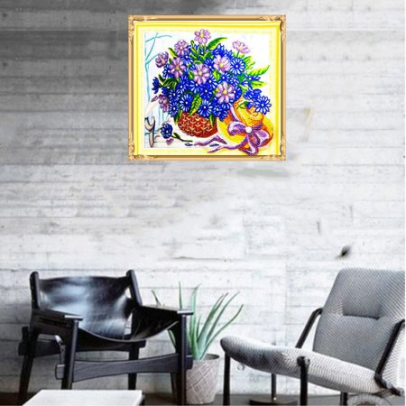 HZ010 Flower Basket Diamond Painting Embroidery Cross Kit Home Decoration - image 6 of 6