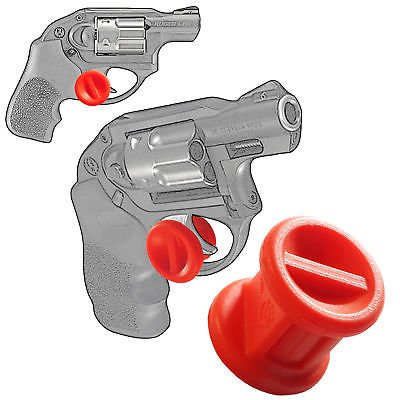 ONE Micro Holster Trigger Stop For Ruger LCR 22 38 Spcl 357 Mag Red