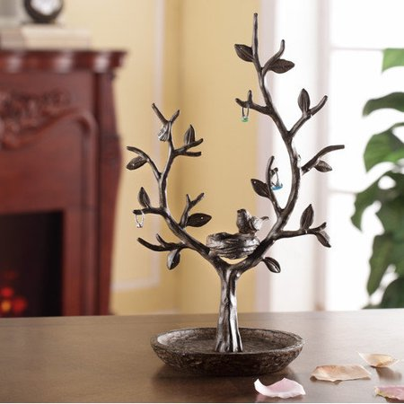SPI Home Nest Bird and Twig Tree Jewelry Stand
