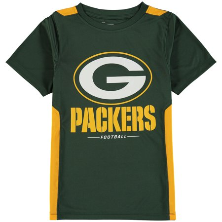 Green Bay Packers NFL Pro Line by Fanatics Branded Youth Team Lockup Colorblock T-Shirt - Green/Gold](Nfl Green Bay Packers)