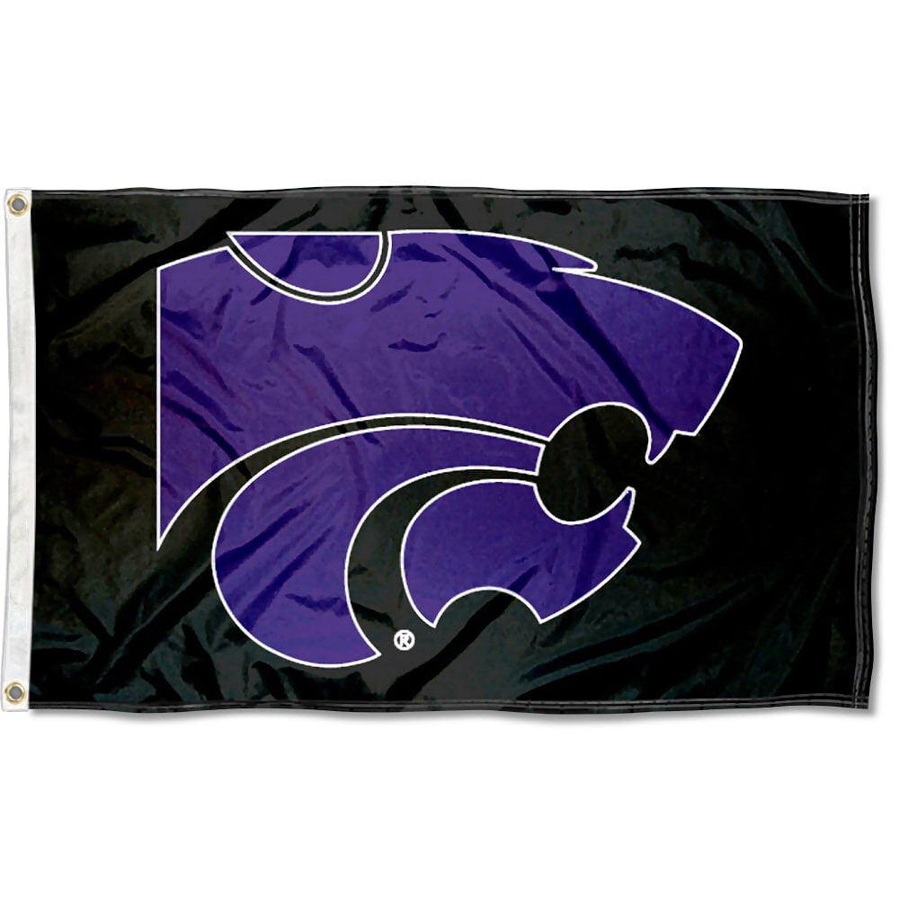 Kansas State Wildcats Black 3' x 5' Pole Flag