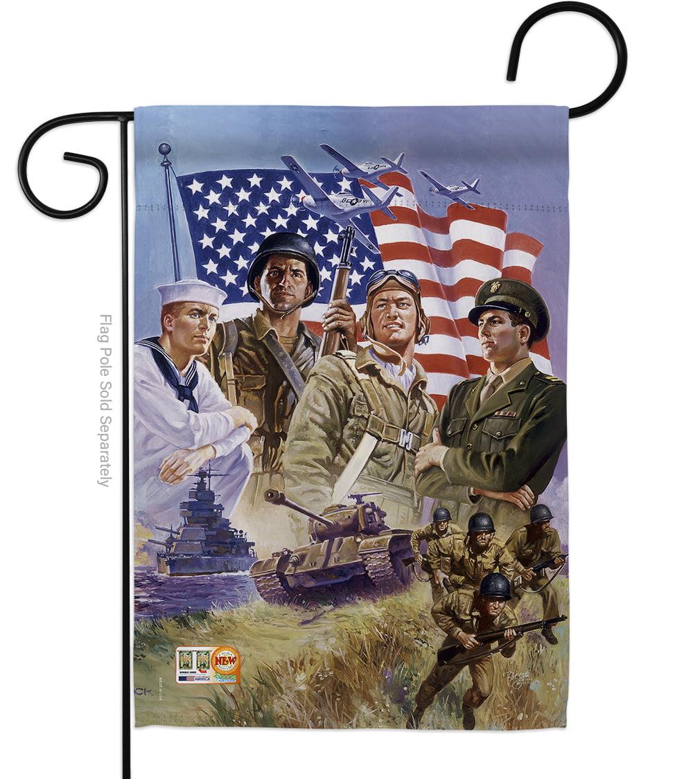 The Armed Forces Americana Patriotic Impressions Decorative Vertical 13 X 18 5 Double Sided Garden Flag Walmart Com Walmart Com