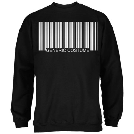 Halloween Generic Barcode Costume Black Adult Sweatshirt - Halloween Express Discount Code