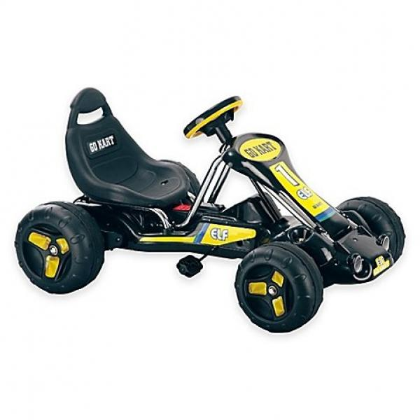 Lil' Rider Black Stealth Pedal-Powered Go-Kart by