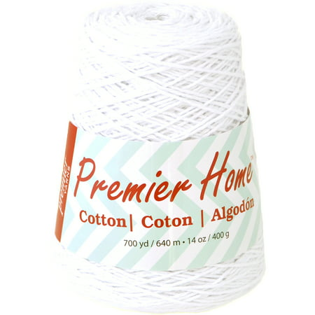 Premier Home White Cotton Classic Yarn Cone, 700 yards ()
