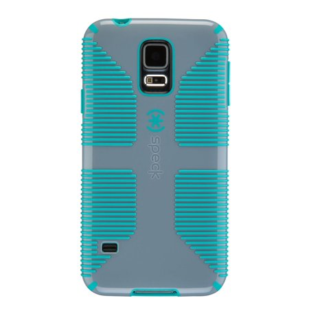 outlet store 55e34 887e7 Speck Candyshell Grip Case Samsung Galaxy S5 Nickel Grey Caribbean Blue
