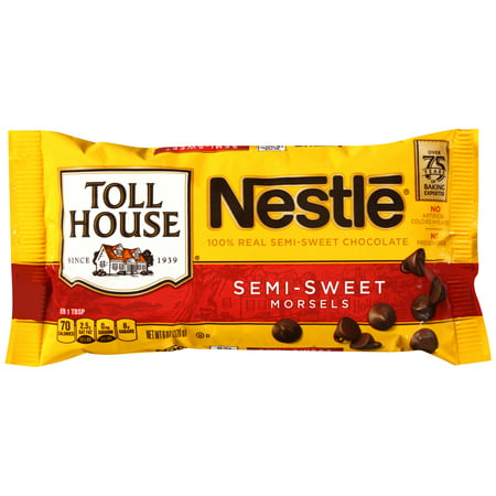 (2 Pack) NESTLE TOLL HOUSE Semi-Sweet Chocolate Morsels 6 oz Bag