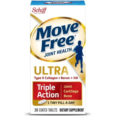 2 Pack - Move Free Ultra Triple Action, Joint Health Supplement with Type II Collagen, Boron and HA 30ea