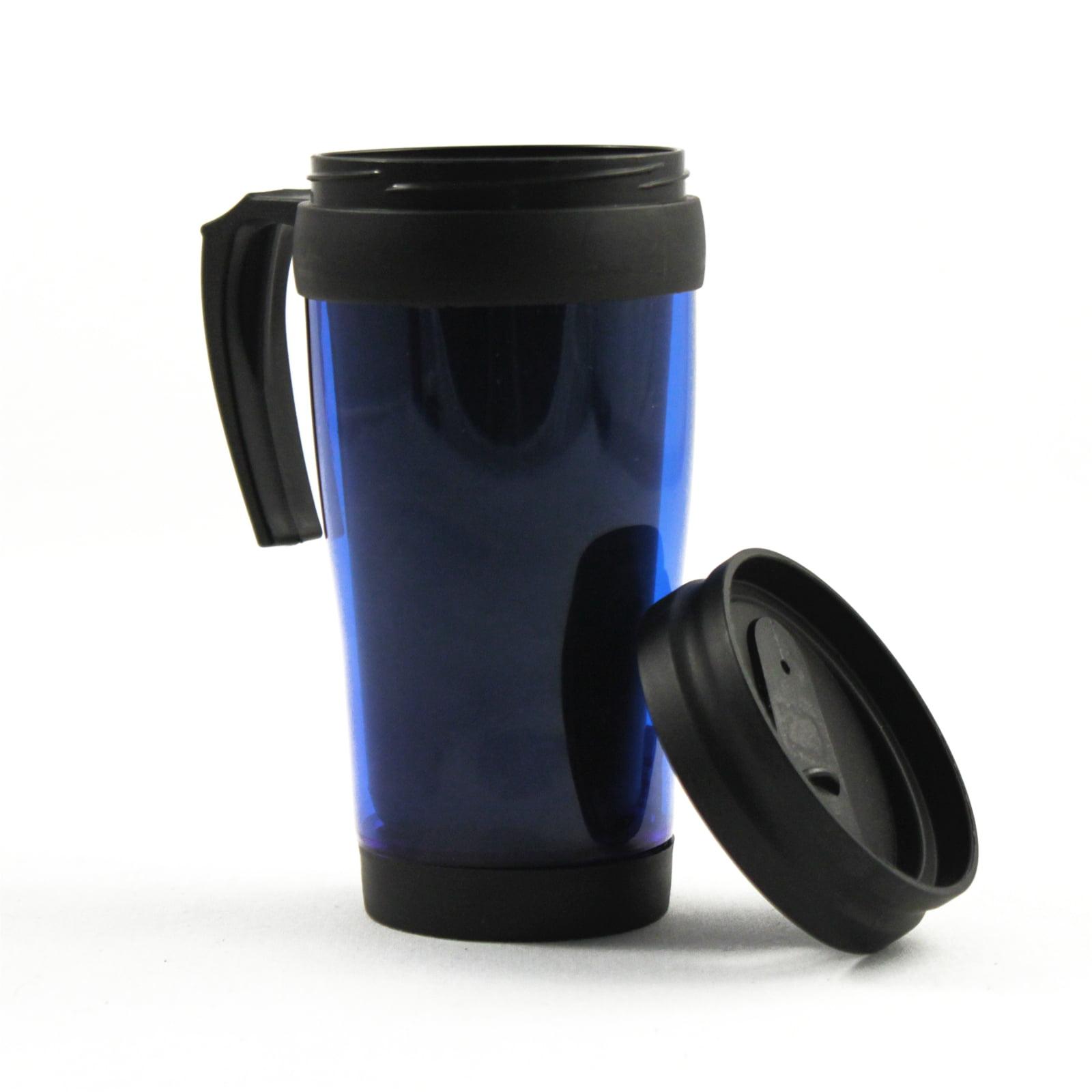 16oz blue travel mug car coffee cup tumbler auto beverage holder