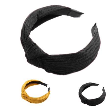 Boyijia Women Lady Bow Hair Hoop Girl Solid Color Soft Knotted Cloth Headband Hairband Head Decoration - image 6 of 8