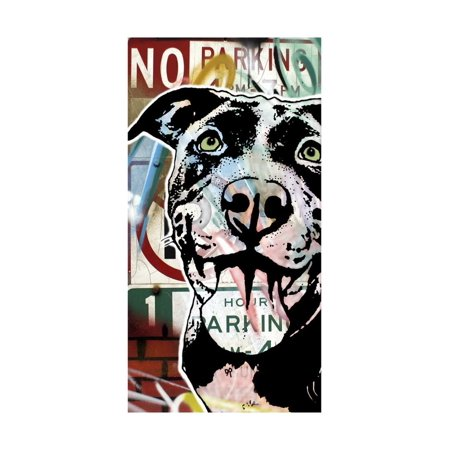 MS Understood NO PARKING, Road Signs, Dogs, Pets, Stencils, Happy, Panting, Tongue, Pop Art Print Wall Art By Russo Dean