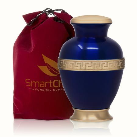 Cremation Urn For Human Ashes   Affordable Funeral Urn Adult Urn For Ashes Greek Brass Handcrafted Urn  Adult