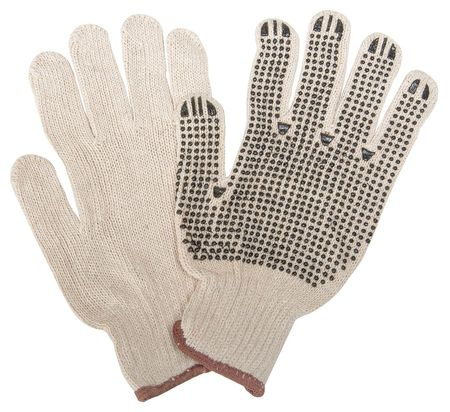 Condor 2UUA1 Men's S Natural/Black Polyester/Cotton Lightweight Knit Gloves