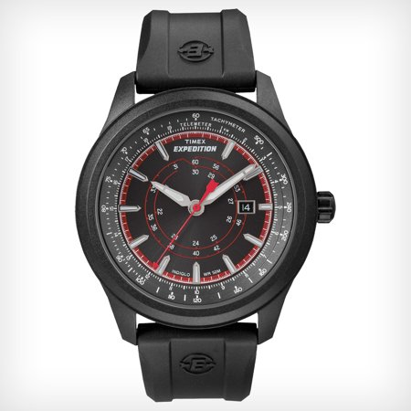 Timex Men's Expedition T49920 Black Resin Quartz Watch