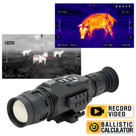 ATN ThOR-HD 640 2 5-25x, 640x480, 50 mm, Thermal Rifle Scope w/ High Res  Video, WiFi, GPS, Image Stabilization, Range Finder, Ballistic Calculator  and