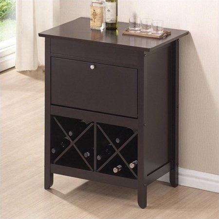 Baxton Studio Tuscany Modern Dry Bar And Wine Cabinet Brown