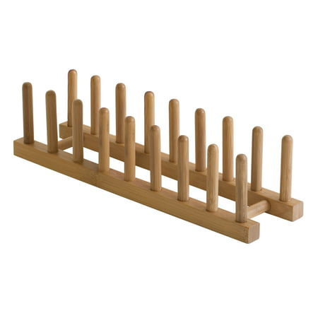Lipper Bamboo Plate Rack Holder