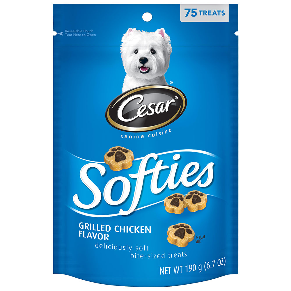 CESAR SOFTIES Grilled Chicken Flavor Dog Treats - 6.7 oz. 75 Treats