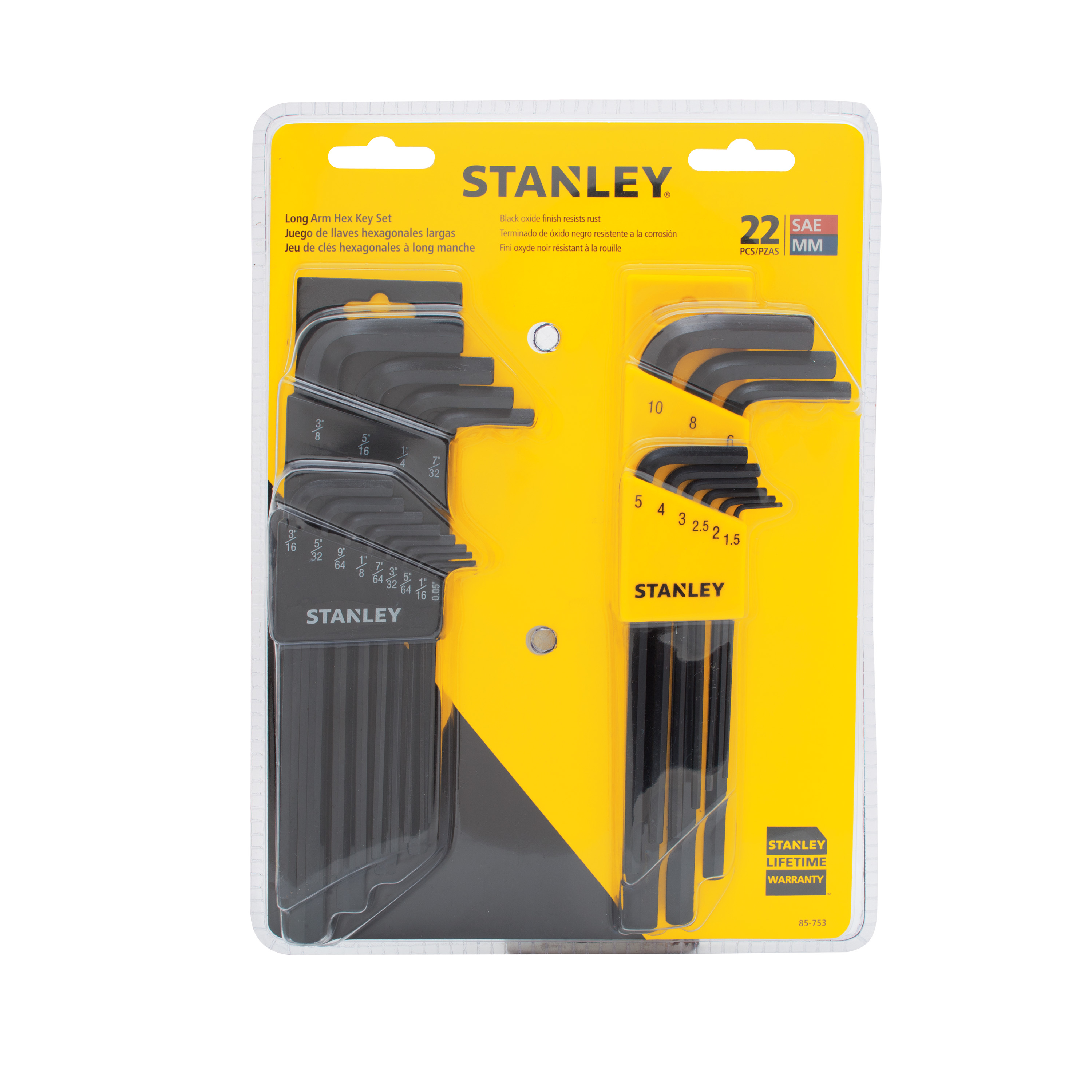 STANLEY 85-753 22pc Hex Key Set