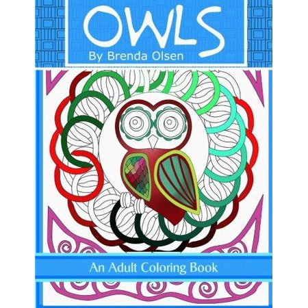 Owls an adult coloring book Coloring book walmart