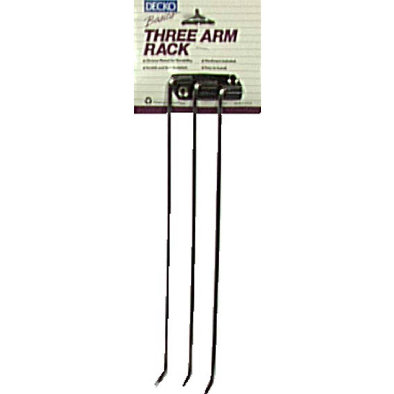 Decko 38190 Chrome 3-Arm Towel Rack