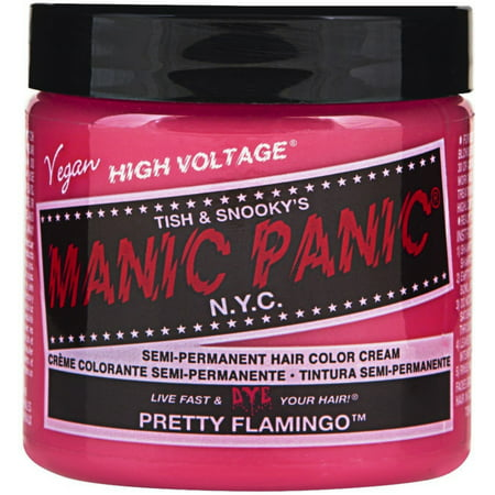 Manic Panic Semi-Permanent Hair Color Cream, Pretty Flamingo 4 - Costume Hair Color