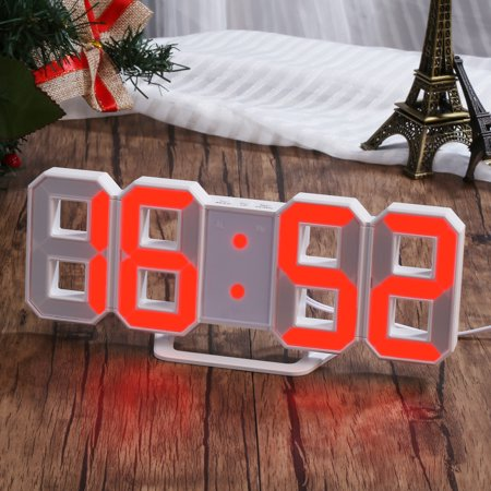 Red LED Digital Numbers Wall Clock with 3 levels Brightness (Led Wall Clock)