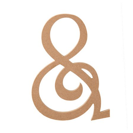 Wood Mdf Ampersand - Unfinished - Fancy Script Font - 8