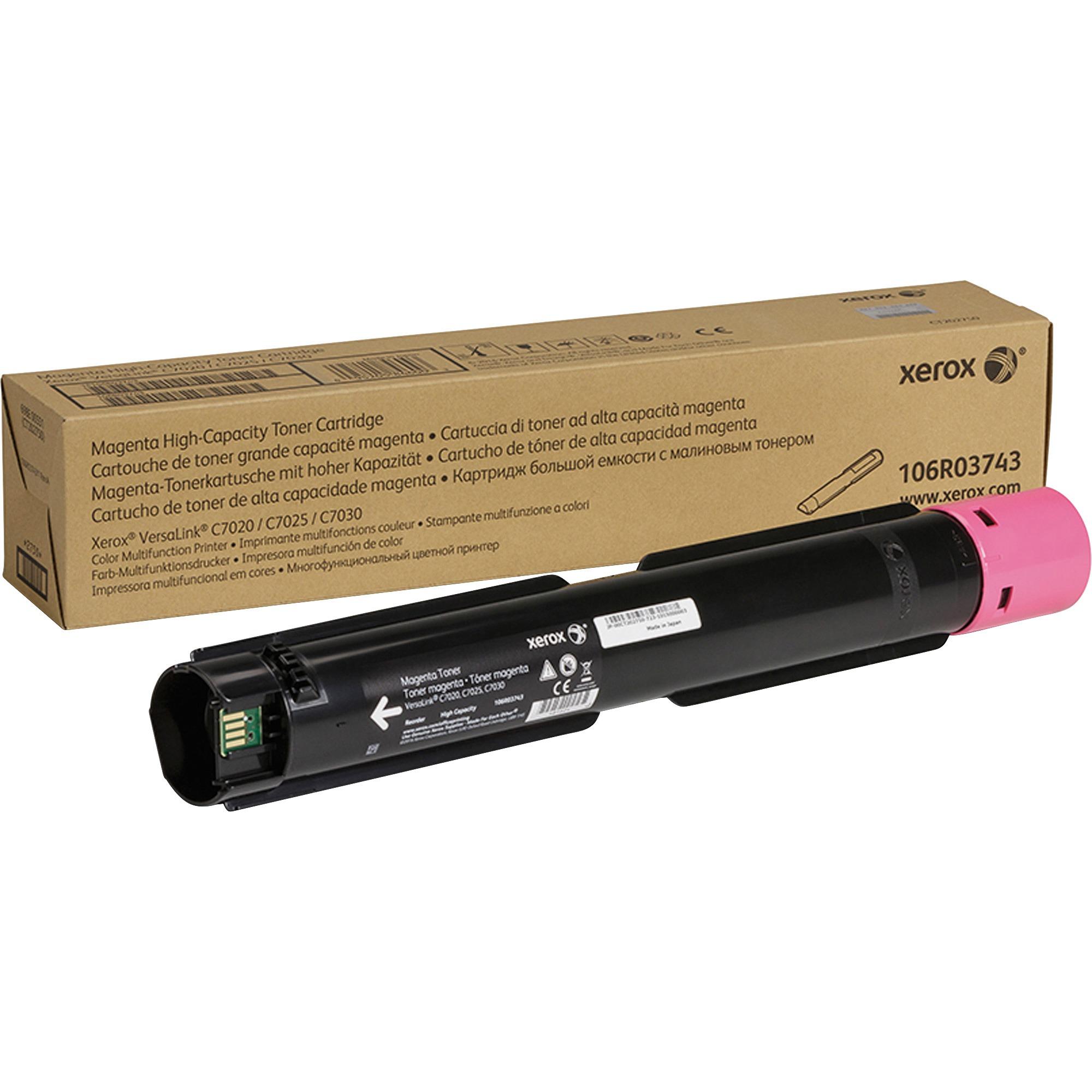 Xerox Magenta Toner Cartridge (9,800 Yield) 106R03743