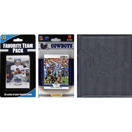 C&I Collectables NFL Dallas Cowboys Licensed 2012 Score Team Set and Favorite Player Trading Card Pack Plus Storage Album