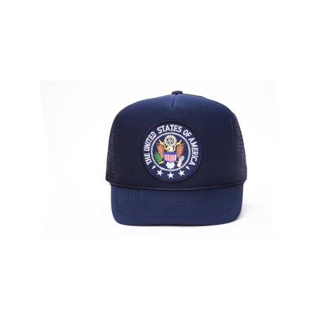Military Patch Adjustable Trucker Hats - United States of America Seal |  Walmart Canada