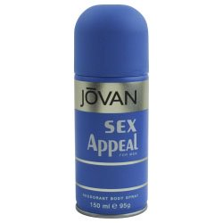 JOVAN SEX APPEAL por Jovan - desodorante corporal SPRAY 5 OZ - MEN