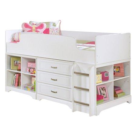 Signature Design By Ashley Lulu Twin Youth Loft Bed White Walmart Com