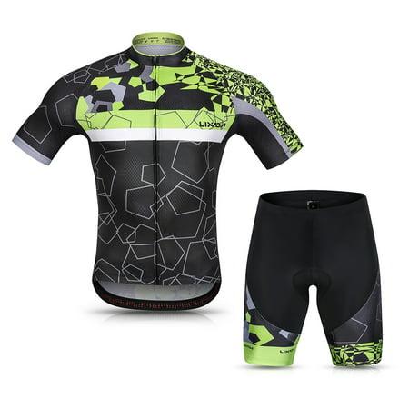 Lixada Men Cycling Jersey Set Breathable Quick-Dry Short Sleeve Biking Shirt and Gel Padded Shorts MTB Cycling Outfit Set - image 7 de 7